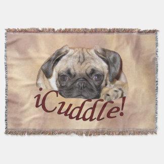 Entzückender iCuddle Mops-Welpe Decke