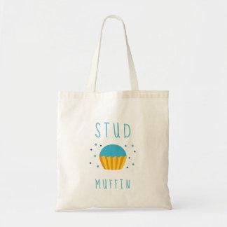 Entzückender Jungen-blaues Bolzen-Muffin - Tragetasche