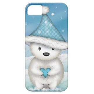 Entzückender kleiner Eisbär mit Herzen Hülle Fürs iPhone 5