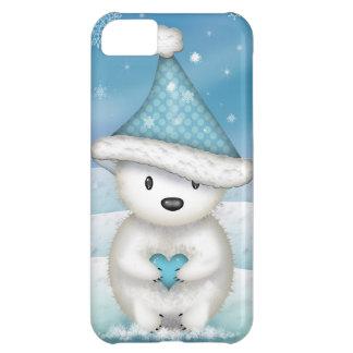 Entzückender kleiner Eisbär mit Herzen iPhone 5C Hülle