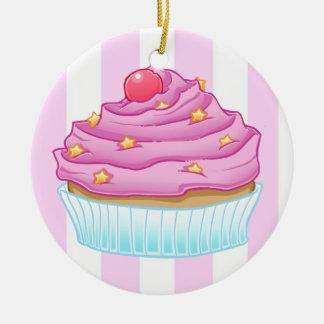 Entzückender kleiner Kuchen Rundes Keramik Ornament