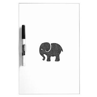 Entzückender netter niedlicher Elefant Trockenlöschtafel