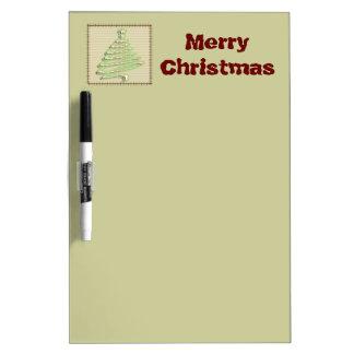 Entzückender netter Patchwork Weihnachtsbaum Trockenlöschtafel