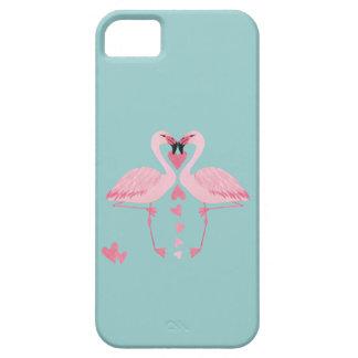 Entzückender netter reizend Flamingo in der Liebe iPhone 5 Schutzhülle