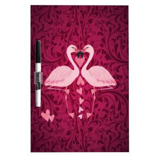 Entzückender netter reizend Flamingo in der Liebe Trockenlöschtafel