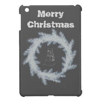 Entzückender netter Winter-Schneemann frohe iPad Mini Cover