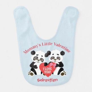 Entzückender Panda-Valentinsgruß Babylätzchen