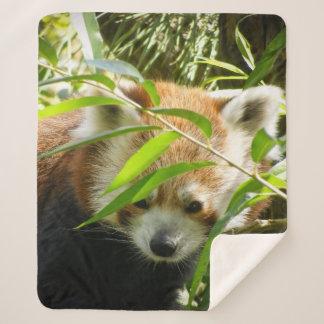 entzückender roter Panda Sherpadecke