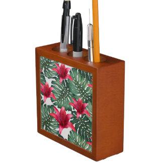 Entzückender tropischer Palmen-Hawaiianer Hibiskus Stifthalter