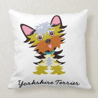 Entzückender Yorkshire-Terrier-Cartoon Kissen