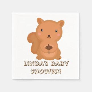 Entzückendes Babyeichhörnchen Papierserviette