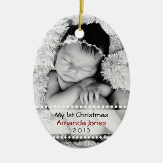 Entzückendes Babys erstes Weihnachten Keramik Ornament