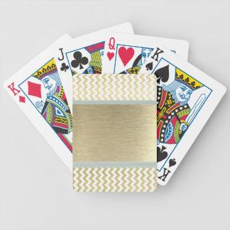 Entzückendes bezauberndes Zickzack Gold Bicycle Spielkarten