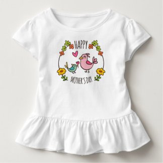 Entzückendes glückliches Rüsche-T-Stück der Mutter Kleinkind T-shirt