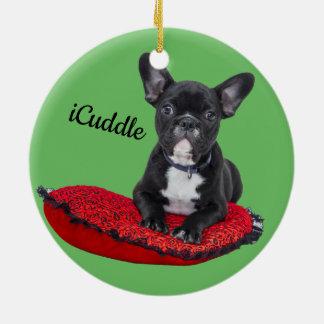 Entzückendes iCuddle französische Bulldogge Keramik Ornament