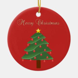 Entzückendes Imitat-Goldfrohe Weihnachten, Rundes Keramik Ornament