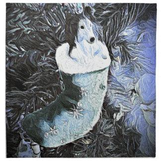 Entzückendes künstlerisches Sheltie im festlichen Serviette