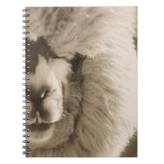 Entzückendes Lama/Alpaka Spiral Notizblock