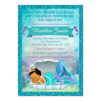 Entzückendes Meerjungfrau-Babyparty-Einladungen Karte