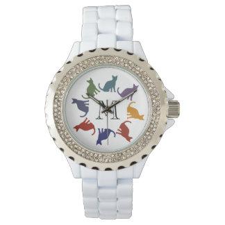 Entzückendes modisches girly buntes armbanduhr