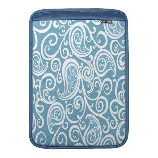Entzückendes nettes reizend Babyblau paisly MacBook Sleeve