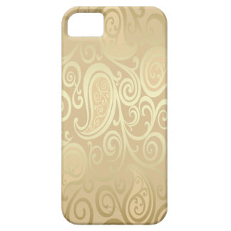 entzückendes nettes Vintages Gold Blumenpaisley Barely There iPhone 5 Hülle