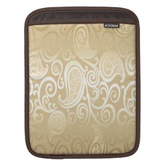 entzückendes nettes Vintages Gold Blumenpaisley iPad Sleeve