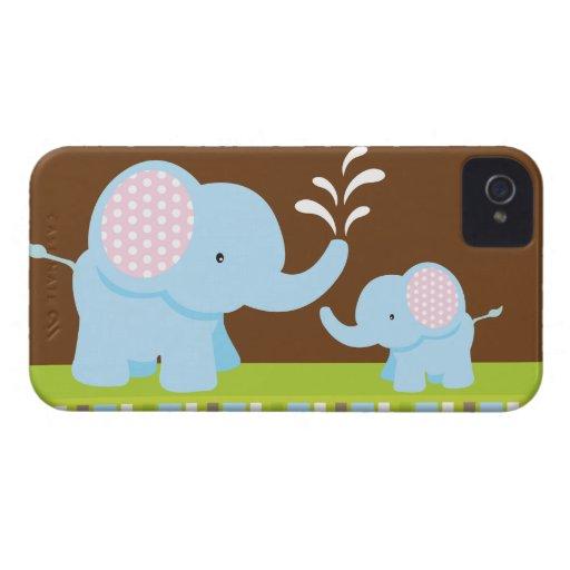 Entzückendes niedliches Cartoonelefant-BlackBerry Case-Mate iPhone 4 Hülle