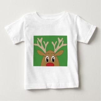 Entzückendes Peekaboo-Ren-Weihnachten Baby T-shirt