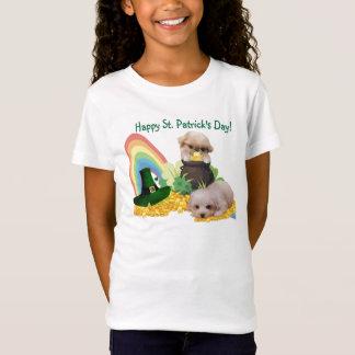 Entzückendes Pekingese u. Kumpel-St Patrick T-Shirt