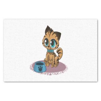 Entzückendes playful flaumiges niedliches Kätzchen Seidenpapier