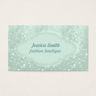 entzückendes reizend elegantes Glitter bokeh Visitenkarte