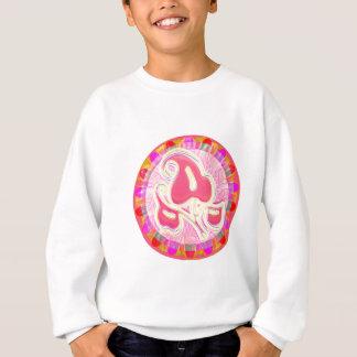 Entzückendes rosa Blatt-Juwel: Blendungs-Grenze Sweatshirt