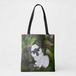 Entzückendes siamesisches flaumiges Kätzchen Tasche