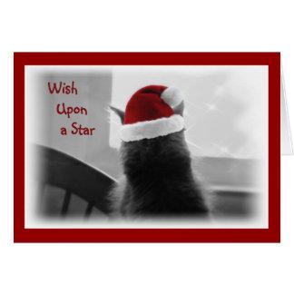 Entzückendes Weihnachtskätzchen Grußkarte