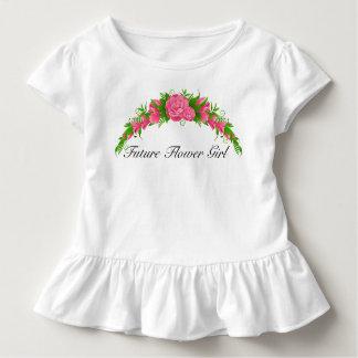 Entzückendes zukünftiges Blumen-Mädchen-Shirt Kleinkind T-shirt