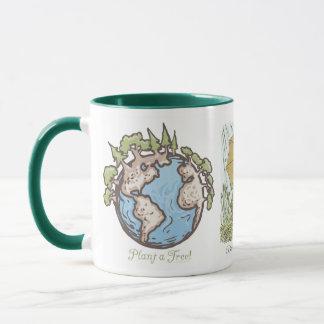 Enviro Frosch-Pflanze ein Baum-Erdtagesgang Tasse