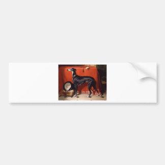EOS, ein Lieblingswindhund von Prinzen Albert Autoaufkleber