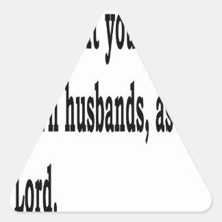 Eph. 5:22 dreieckiger aufkleber