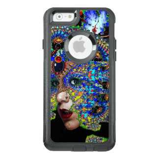 EPHEMERE FRAU MIT BUNTEM FRAKTAL-MASKE Blau OtterBox iPhone 6/6s Hülle