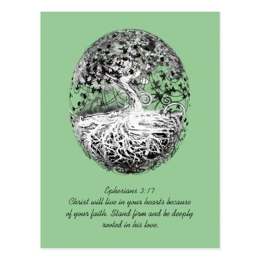 Ephesians 3:17 wird in seiner Liebe gewurzelt Postkarten