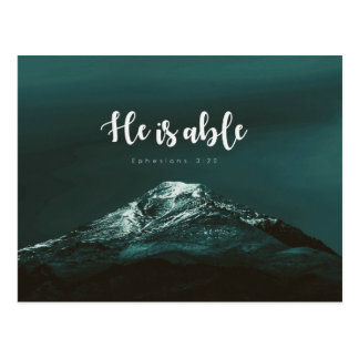 Ephesians 3:20 - er ist in der Lage Postkarte