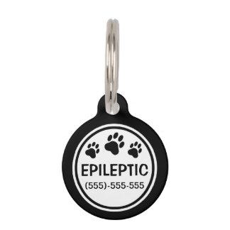 Epileptischer Schwarzweiss-Text mit Tiernamensmarke