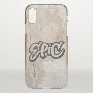 EPISCHE Beschriftung + TelefonGraffitiGrunge ist iPhone X Hülle