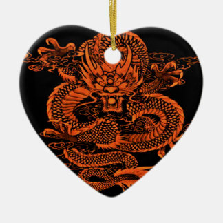 Epische Drache-Orange Keramik Ornament