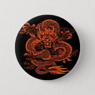 Epische Drache-Orange Runder Button 5,7 Cm