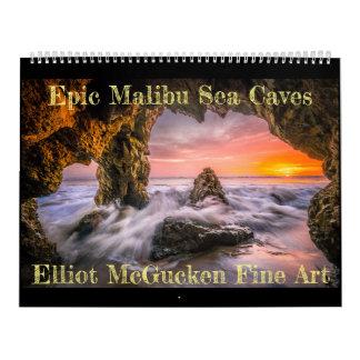 Epische Malibu-Seehöhlen: Schöne Kunst Eliots Abreißkalender