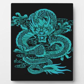 Epischer Drache aquamarin Fotoplatte