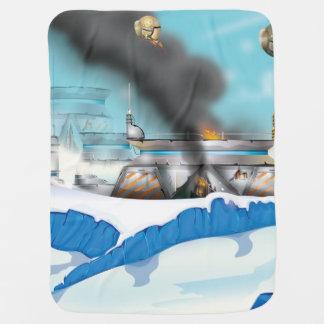 Epischer Eis-Planeten-Raum-Kampf Kinderwagendecke