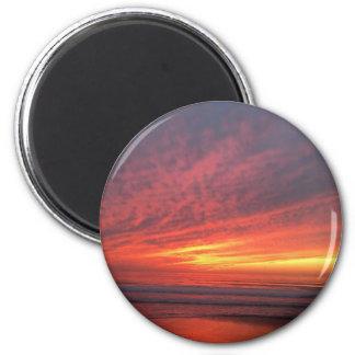 Epischer Sonnenuntergang am Torrey Pines Runder Magnet 5,7 Cm